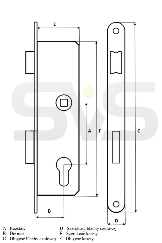 Schlüssel E Nemef Brandschutztür N.9 LUC0855009